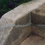 Patch cracks in concrete steps with InstaCrete
